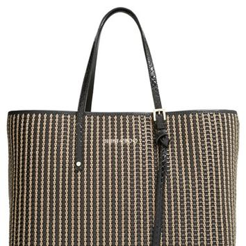 Women's Jimmy Choo 'Sasha' Woven Leather Tote