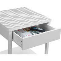 Walmart: Altra Furniture Parsons Nightstand/End Table, White with Chevron Top