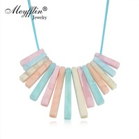 Meyfflin Women Statement Necklace Female Fashion Arrylic Bar Necklaces & Pendants Collier Tassel Chokers Bijoux 2017 Party Gift