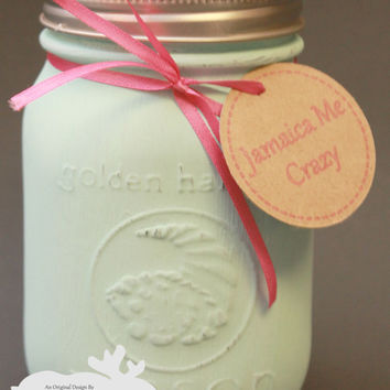 Jamaica Me Crazy / Mason Jar Candle / Jamaica Me Crazy Soy / Tropical Scent / Scented Soy Candle / Gift Idea / Housewarming Gift