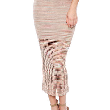 Torn by Ronny Kobo Karima Skirt in Blush