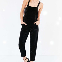 Silence + Noise Stretch Velvet Overall - Urban Outfitters