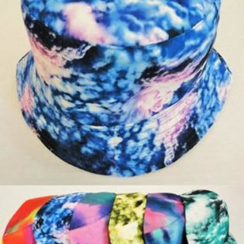 tie dye color bucket hats Case of 24