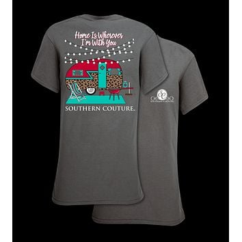 Southern Couture Classic Preppy Leopard Camper T-Shirt