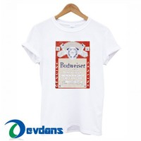 Budweiser White T Shirt For Women And Men Size S To 3XL
