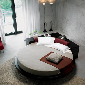 Modrest Plato Round Bed Black