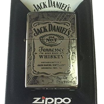 Zippo Custom Lighter - Jack Daniel's Tennesse Whiskey Fusion Design High Polish Chrome