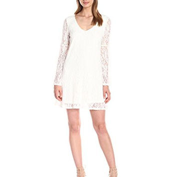 Socialite Women's Bell Sleeve Lace Swing Dress