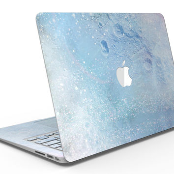 The Light Blue Cratered Moon Surface - MacBook Air Skin Kit