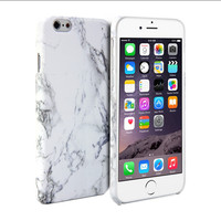 White Marble Pattern Print Crystal   Hard Case Cover  for iPhone 6 6 Plus Free Shipping