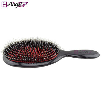 1pc Natural Boar Bristle Brush Oval Cushion Nylon Natural Hair Extension Brush For Barber Hairdressing Tools