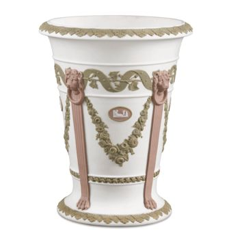 Antique Porcelain, Wedgwood Jasper, Tri-Color Vase at rauantiques.com