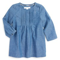 Burberry 'Milsy' Pintuck Long Sleeve Cotton Dress (Baby Girls) | Nordstrom
