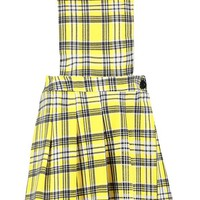 Bright Tartan Jersey Pinafore Dress | Boohoo