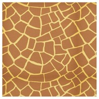 Chocolate Brown Giraffe Skin Pattern Fabric