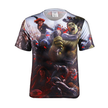 Hot Sale Tee Men's Fashion Print Summer Short Sleeve T-shirts = 6458423107