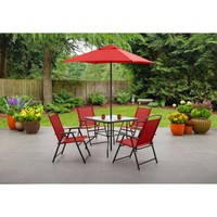 Mainstays Albany Lane 6-Piece Folding Dining Set, Multiple Colors - Walmart.com