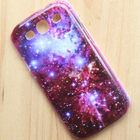 Fox Fur Nebula - Galaxy Space - Snap on Hard Back Protective case cover for Samsung Galaxy SIII S3 i9300 S III S 3 New - A12