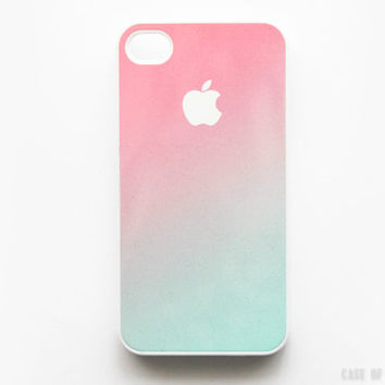 iPhone 5 4 Ombre Case - Gradient Fade  - Samsung Galaxy s3, ipod touch - Pink Mint Green Pastel  - 8A