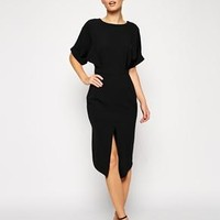 ASOS | ASOS Wiggle Dress with Wrap Back and Split Front at ASOS