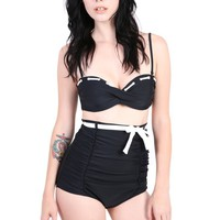 Black Out Very High Waist Retro Bikini