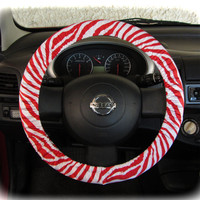 by (CoverWheel) Steering wheel cover for wheel car accessories zebra red wheel cover