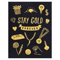 Stay Gold Forever Greeting Card
