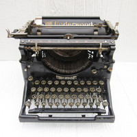 Antique Typewriter, Underwood Typewriter, Steampunk or Industrial Decor, Vintage Wedding Photo Prop
