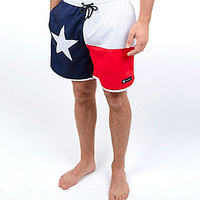 Rowdy Gentleman Texas Flag Swim Trunks - Blue