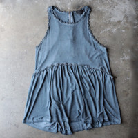 vintage acid wash high-low racer back tank (more colors)