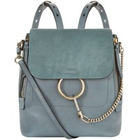 Chloé Medium Faye Backpack Blue | Harrods