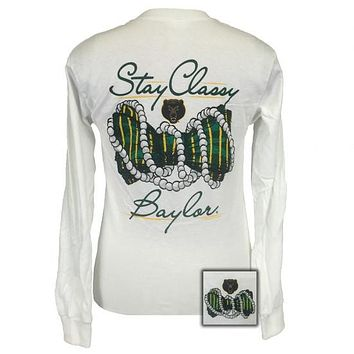 Texas Baylor Bears Stay Classy Pearls Long Sleeves T-Shirt