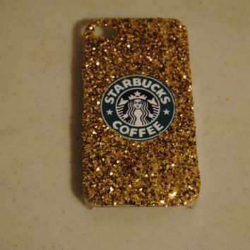 IPHONE 4/4S Glitter Starbucks Phone Case- Pink or Gold