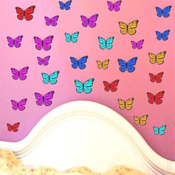Butterfly Wall Decals Wall Graphics Stickers Kids Room Teen Girls Room Decor BF1
