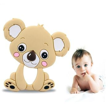 Kawaii Koala Tiny Rod Teether Silicone Amazing Hot Sell Rattle Baby Toys Baby Birth Gift For Newborn 0-24 Months FDA Silicone