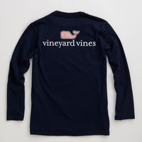 Boys Long-Sleeve VV Logo Graphic T-Shirt