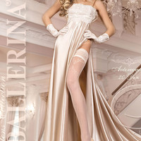 249 Hold Ups in Ivory by Ballerina Hosiery