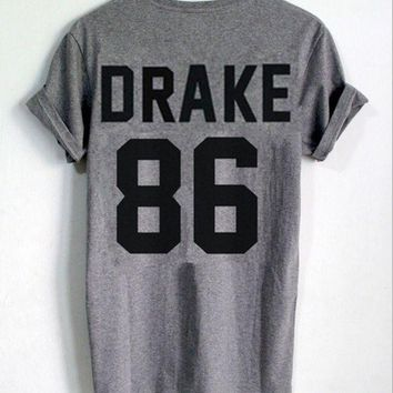 DCCKJ1A DRAKE 86 [printed back] fashion women's T-shirt