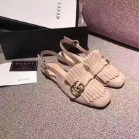 GUCCI Women Trending Fashion Tassels Casual Shoes Flat Sandal Slipper Heels