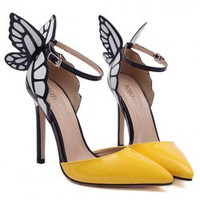 Fashionable Women's Pumps With Butterfly Wings and Color Block Design