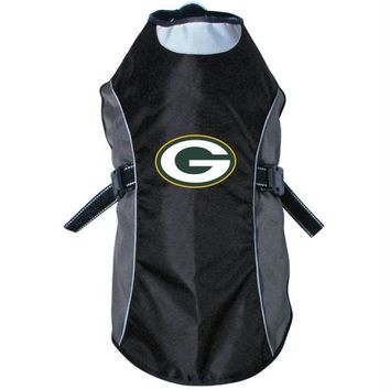 Green Bay Packers Water Resistant Reflective Pet Jacket
