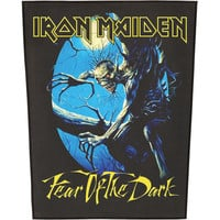 Iron Maiden Men's Fear Of The Dark Back Patch Black