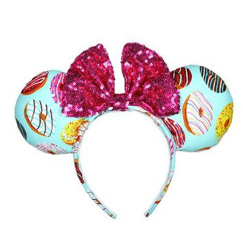 Donut Pink Sequin Mickey Mouse Ears Minnie Mouse Ears - MADE TO ORDER