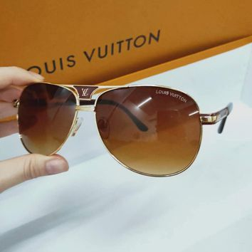 Louis Vuitton LV Fashion Women Men Popular Summer Sun Shades Eyeglasses Glasses Sunglasses I/A