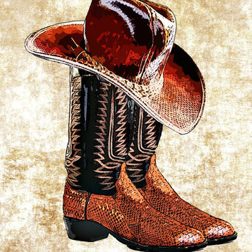 snake skin cowboy boots cowboy hat png clip art digital clipart download printable graphics western country fashion