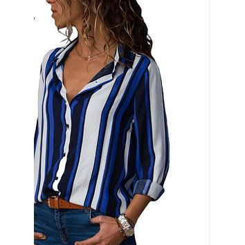 Women Striped Print Blouse