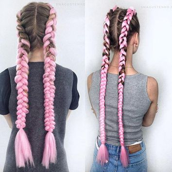 Ombre  Synthetic Hair 24 inch