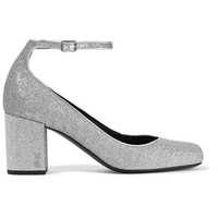 Saint Laurent - Babies glittered leather pumps