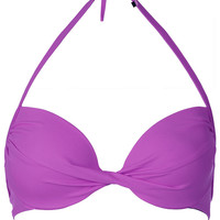 Ultra Violet Plunge Bikini Top - Swimwear - Clothing - Topshop USA