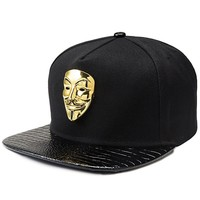 Trendy Winter Jacket New Fashion Gorras Mask Snap Back Snapback Caps Hat Black Adjustable Gorras Hip Hop Casual Baseball Cap Hats for Men Women AT_92_12